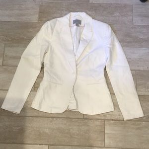 White new blazer